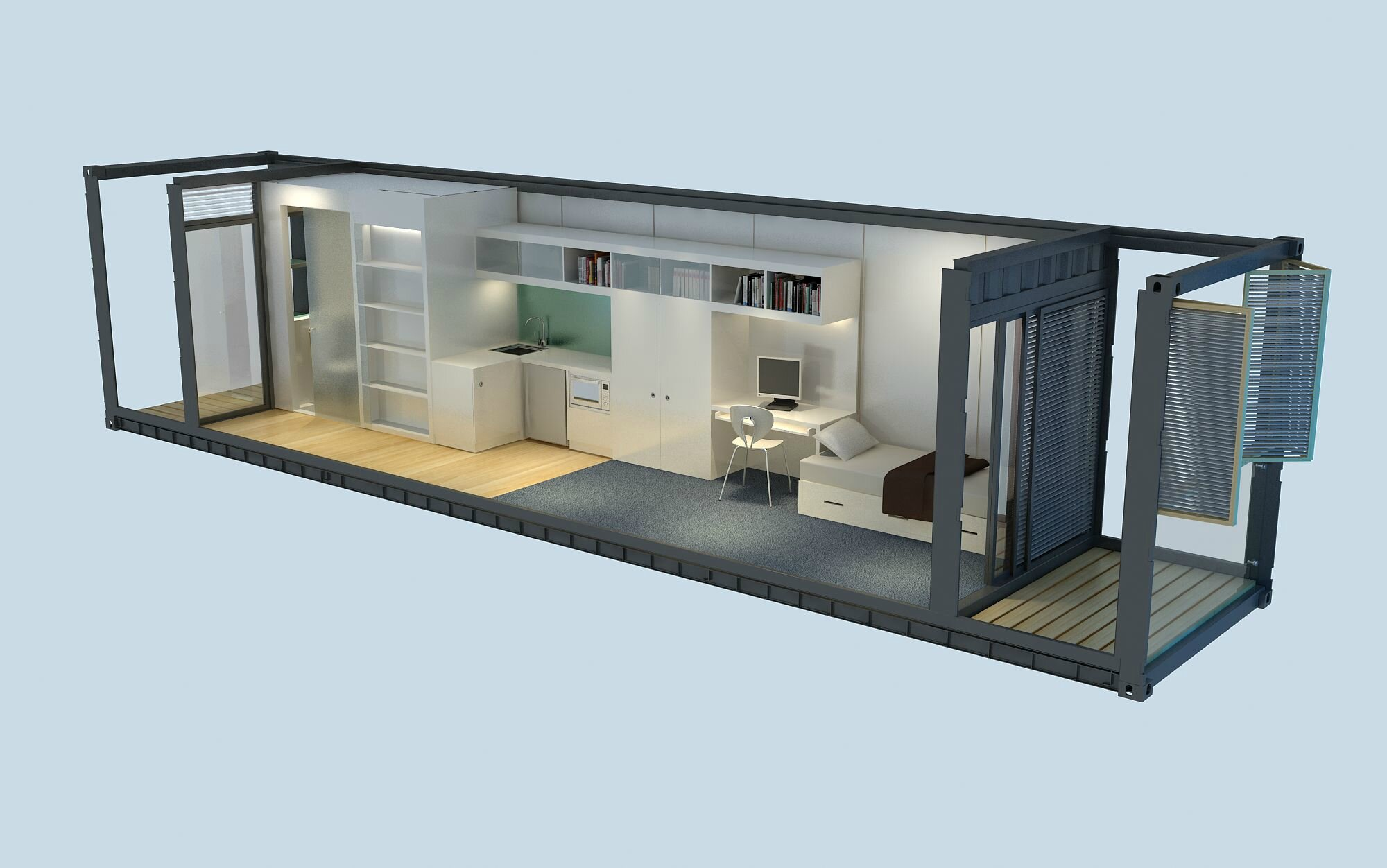 L 39 architecture une solution rapide el 39 lef bien for Maison container 44