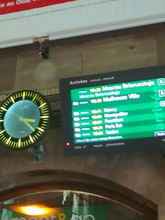 train moscou horloge