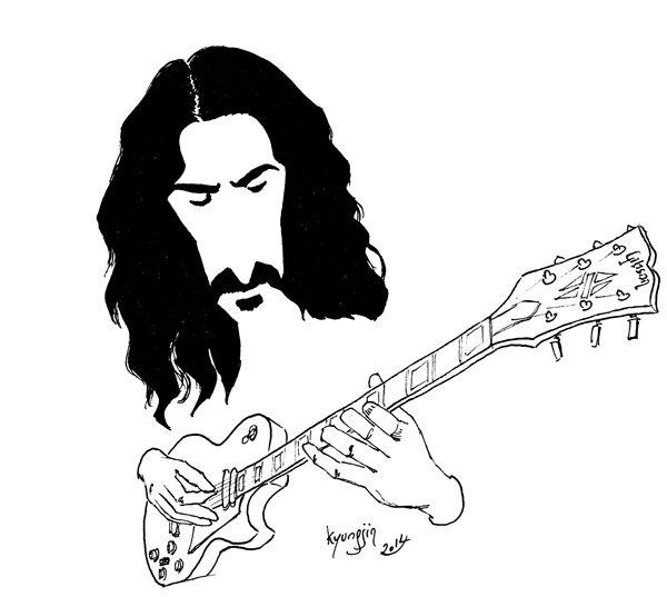 Frank Zappa caricature