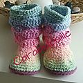 Chaussons boots crochet