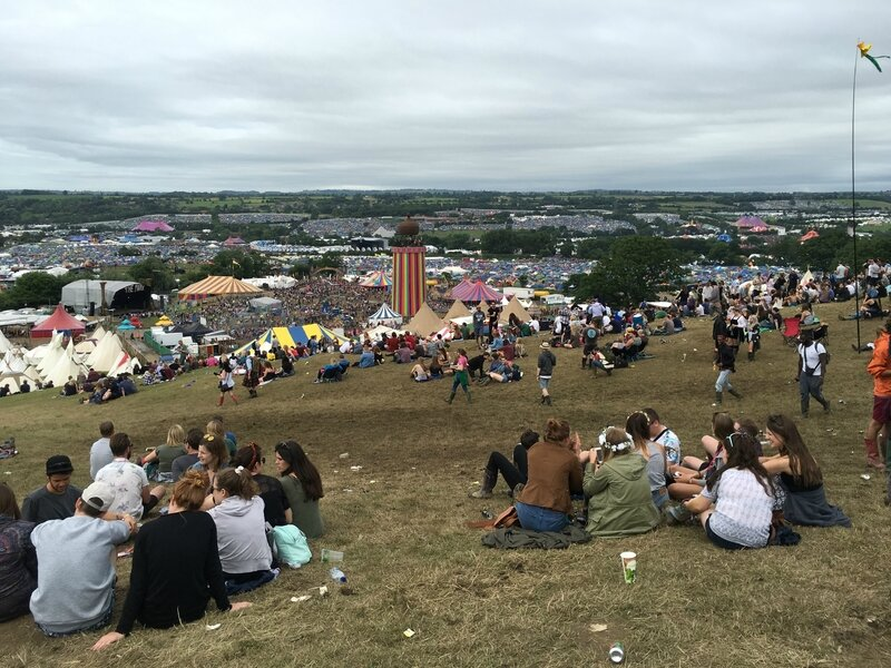 Glastonbury festival 2016 The Park Ribbon Tower