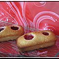 Financier framboises
