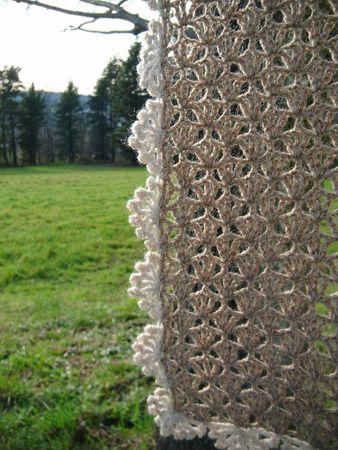 écharpe crochet dentelle 028
