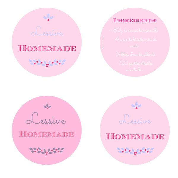 printable lessive homemade etiquette