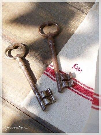 clés de vieilles maison chinées
