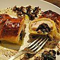 2012 - poulet aux champignons en pâte feuilletée