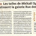 Article exposition Mickaël Symes