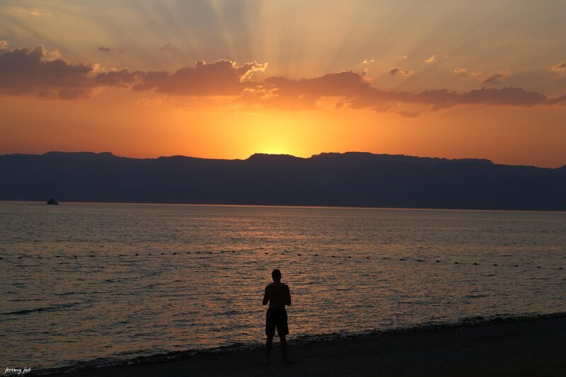 sunset aqaba