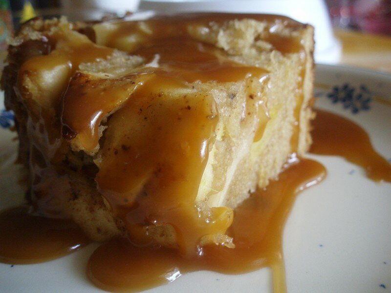 Caramel Themomix Cake Aux Pommes Cannelle Thermomix
