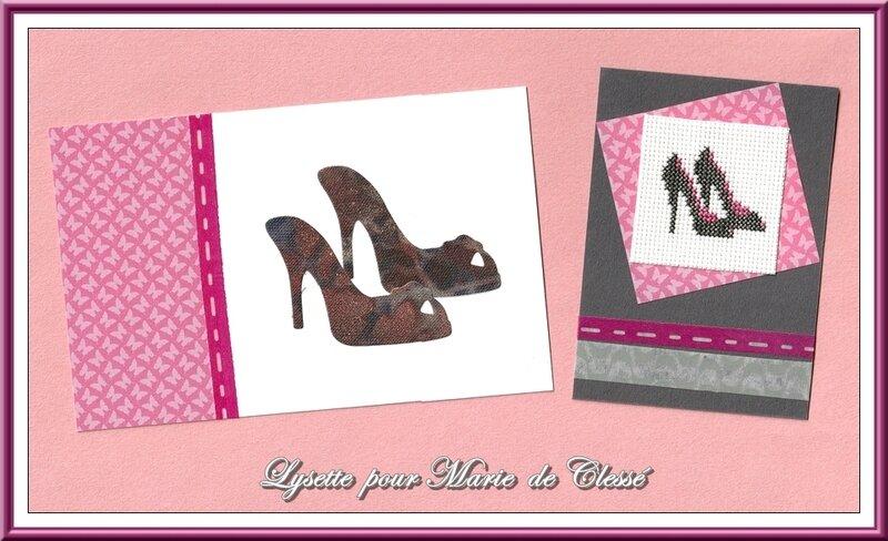 Échange ATC (Octobre) Chez Corinne (Chaussures) Lysette pour Marie de Clessé 2