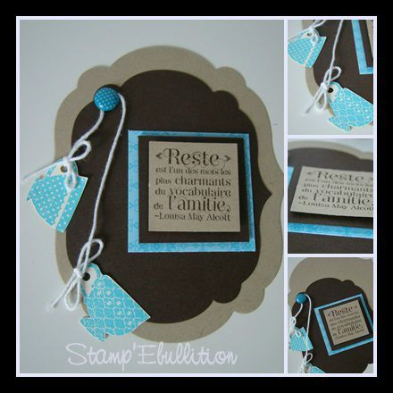 carte artisanale a realiser atelier stampin up