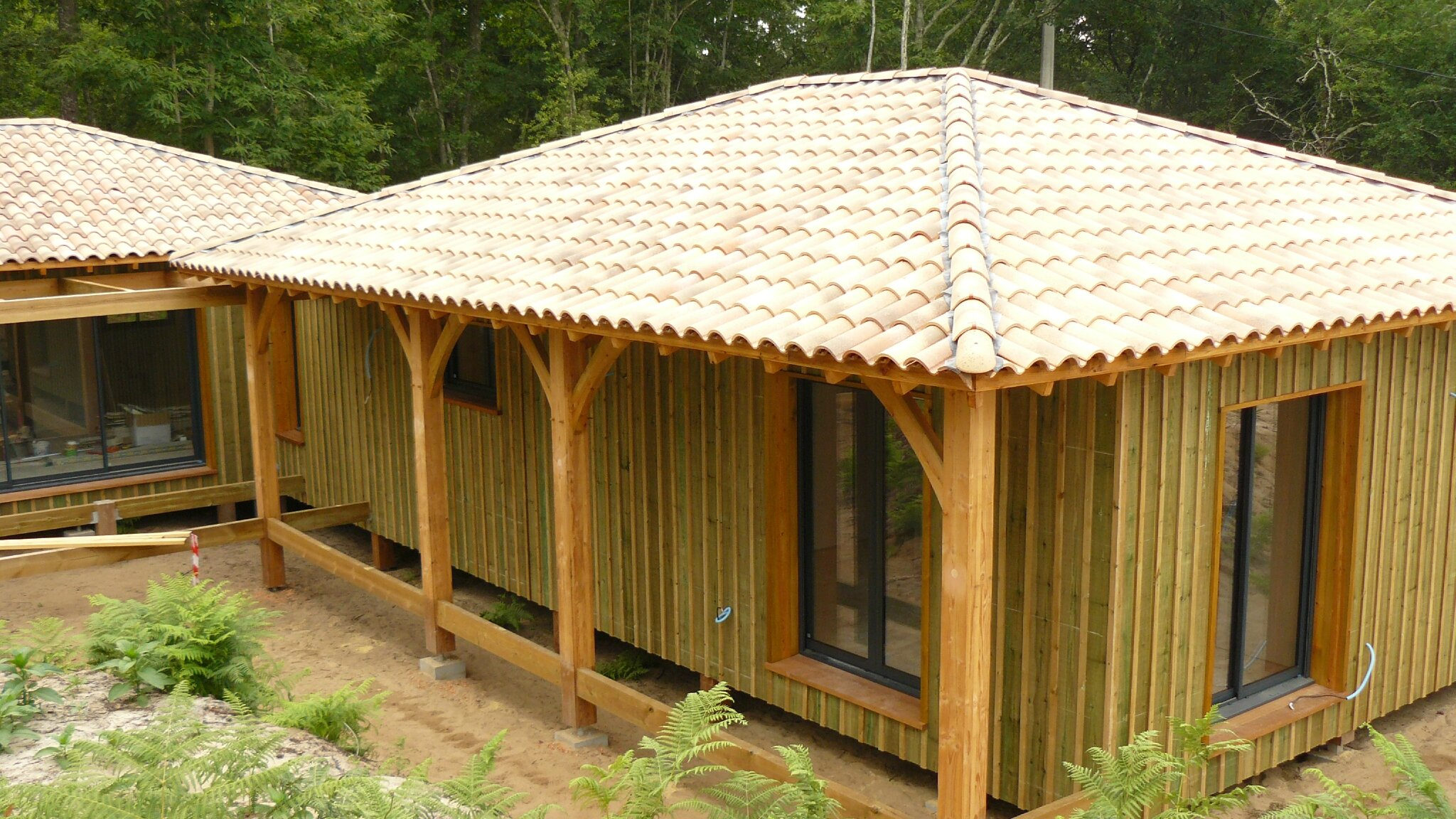 Bien-aimé Bardage en pin - Notre projet de maison ossature bois côté lac IH54