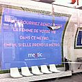 Campagne de Meetic dans le mtro