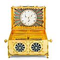 An unusual paste-set ormolu casket containing a clock, english, circa 1790
