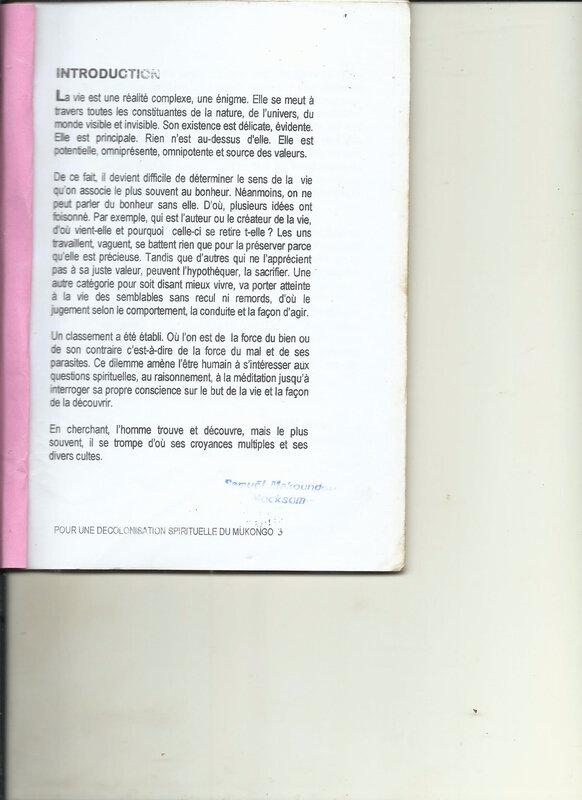POUR UNE DECOLONISATION SPIRITUELLE DU MUKONGO 2