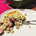 Gratin crozets-poireau-montbeliar ou cropoimon