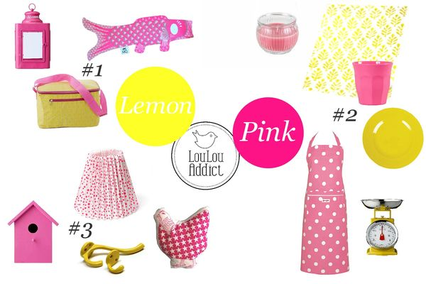 2013 summer Mood board pink & lemon