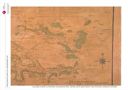 Carte des seigneuries de chateaufort et environs
