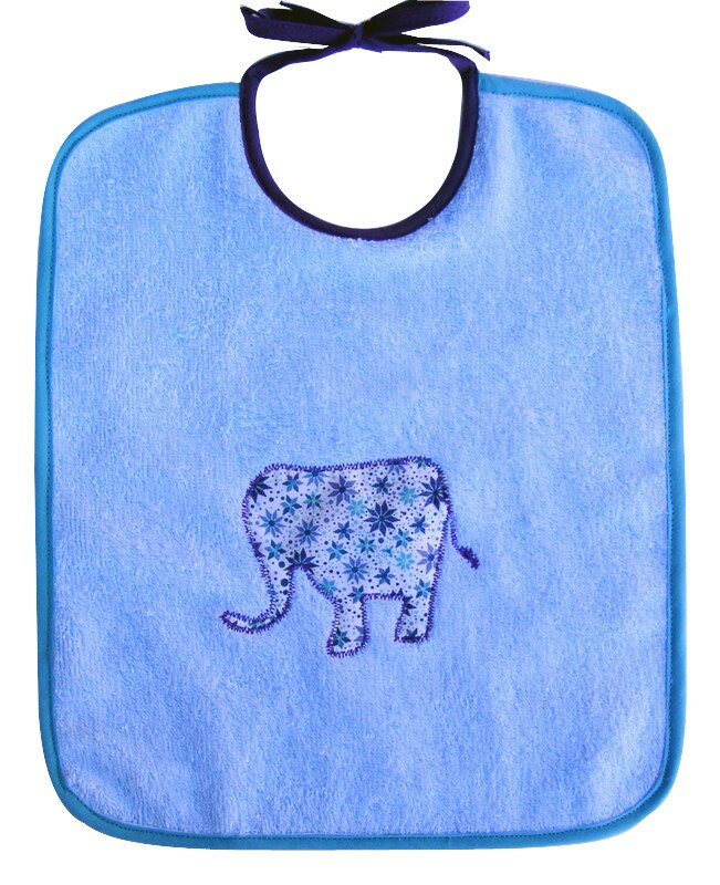 bavoir éléphant pour Dadou