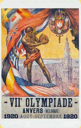 Télécarte Japon Affiche JO 1920 Anvers