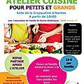 Atelier cuisine pour petits et grands le dimanche 09 avril 2017