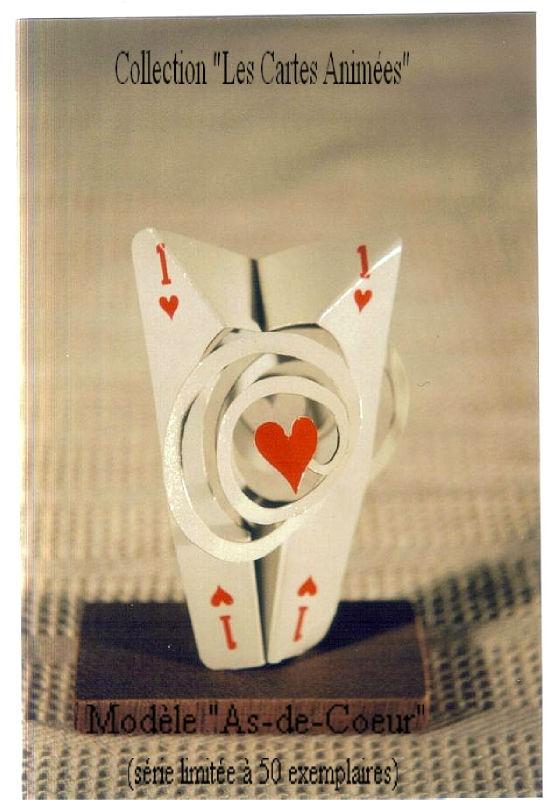 Collection les cartes Animées modèle As-de-Coeur