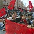 أطفال صحراويون يهتفون بشوارع العيون بشعارات الوحدة