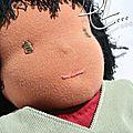 Salopette et tee-shirt pour poupée waldorf ou corolle t36