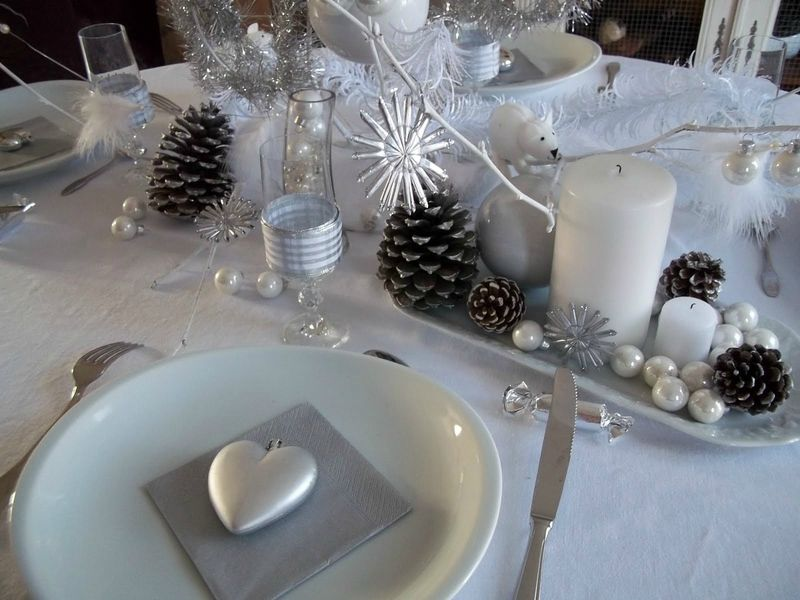 Tendance d co pour no l 2012 from nature - Deco table de noel blanc ...