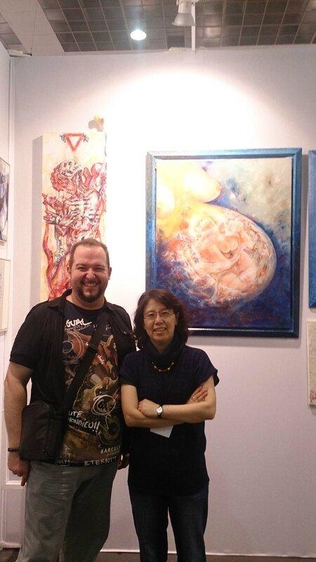 Avec Madame Kim sur le stand de la Galerie BDMC