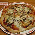 Une de mes 1éres pizza, 2 garnitures ,à l aubergine et coeurs d'artichauds.