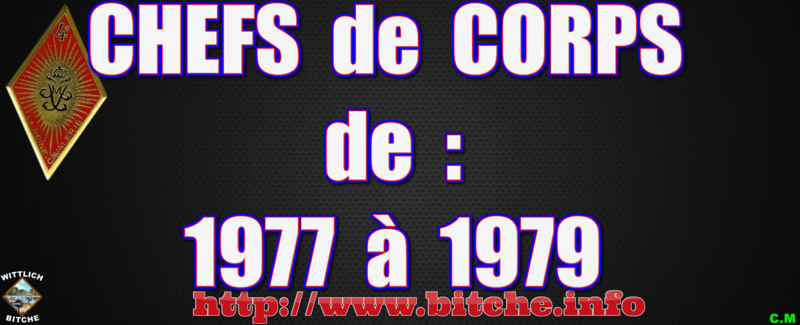 CHEFS de CORPS de 1977