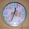 Mon horloge décorée