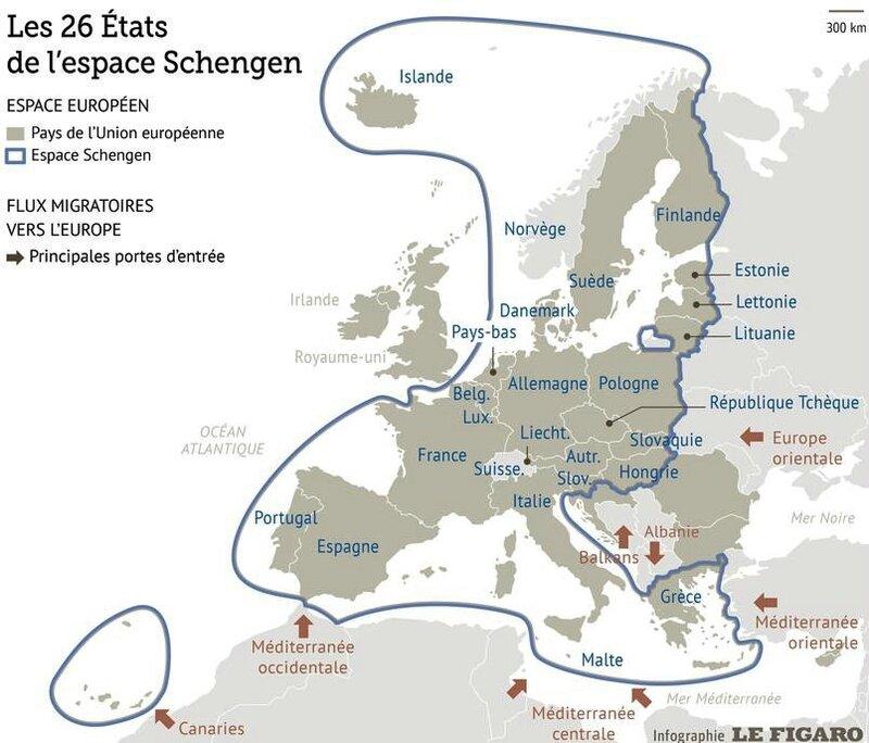 espace Schengen Figaro 15 sept 2015