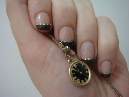 Nail art french noire 1