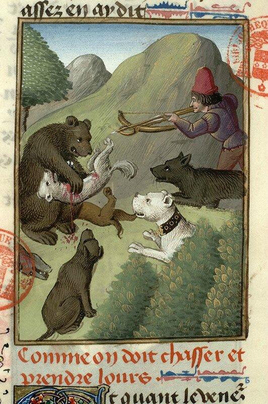 Gaston Phoebus Livre de la chasse avant 1476-bibl Mazarine Ms 3717