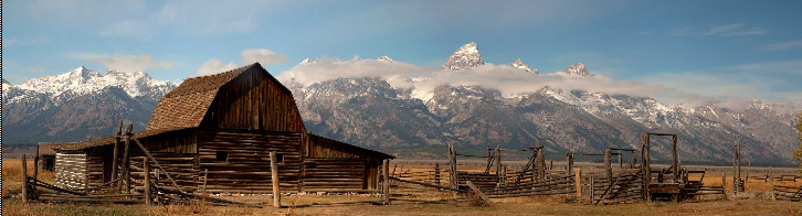 Parc national de Grand Teton USA -Teton-Barn