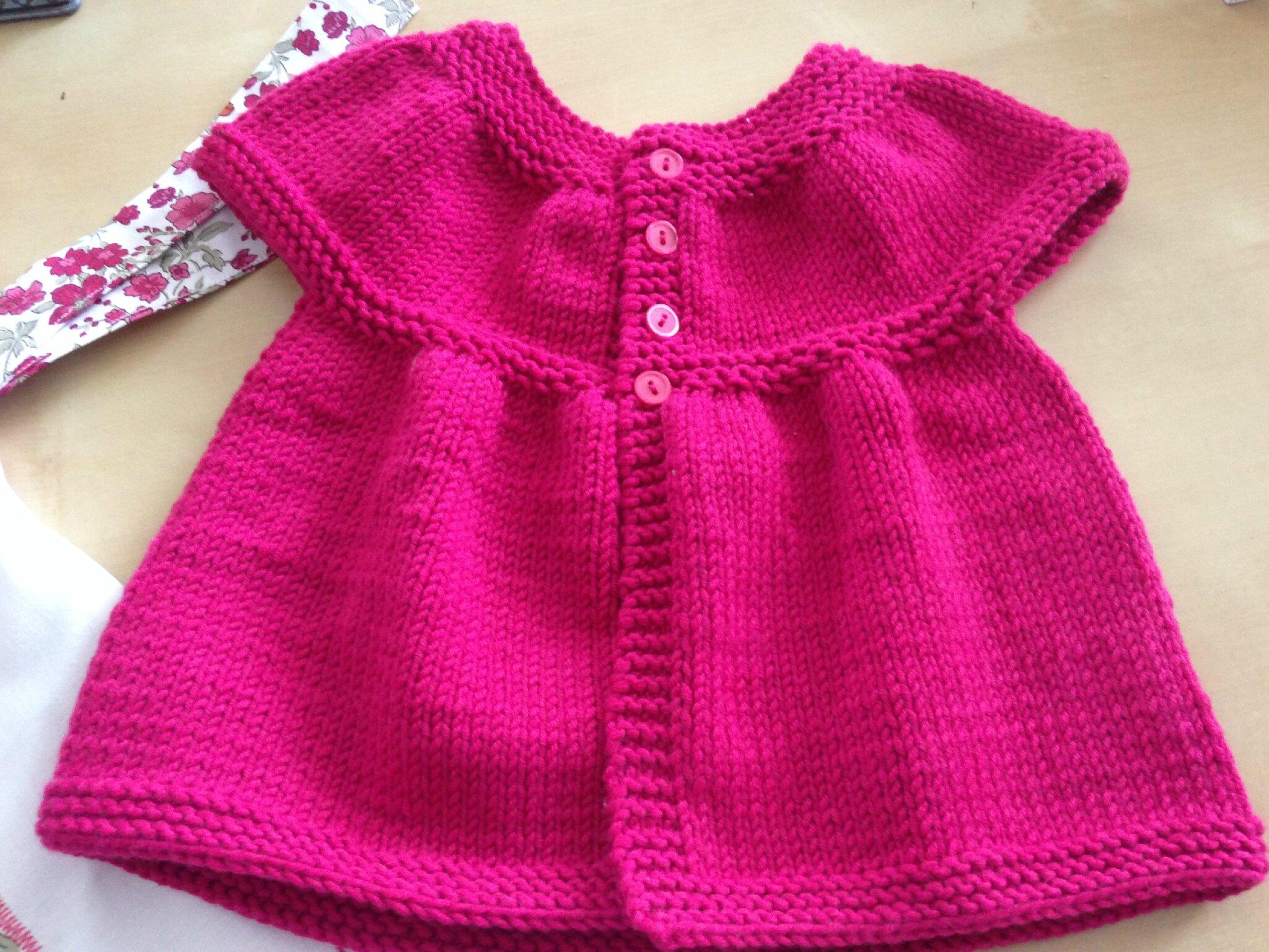 Gut gemocht Gilet bébé fille tricot - Grossesse et bébé AR07