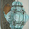 Une de nos fameuse lanterne en verre soufflé de murano