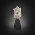 A stone head of guanyin, ming dynasty