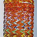 Bracelet 'Native American' en cuir et perles tressés