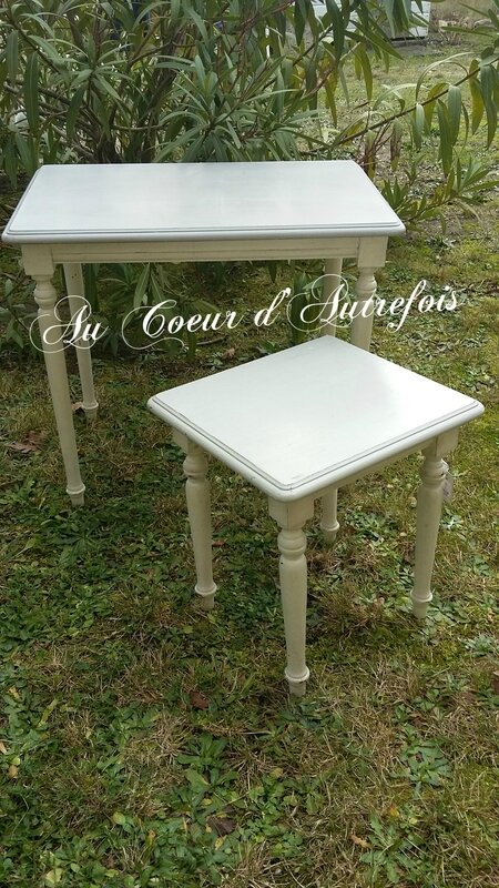 Table gigogne patine Ficelle & chmapignon