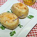 Pommes de terre farcies au kiri et aux herbes