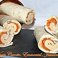 Wraps carotte, emmental , jambon