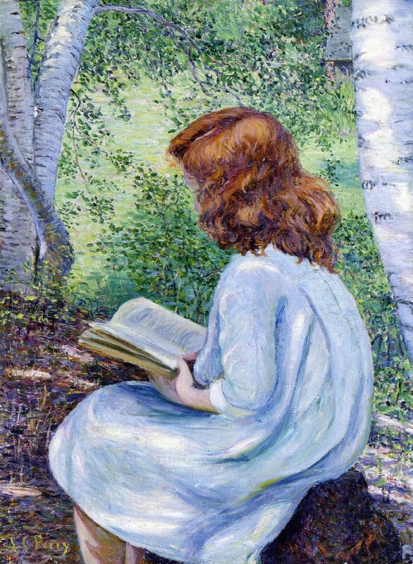 Lilla_Cabot_Perry_xx_Child_with_Red_Hair_Reading_xx_Private_Collection