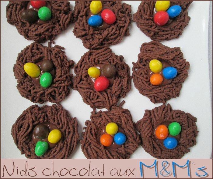 Nids chocolat aux oeufs M&M's 1