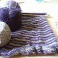 Côté tricot : petite robe rayée en alpaga de la