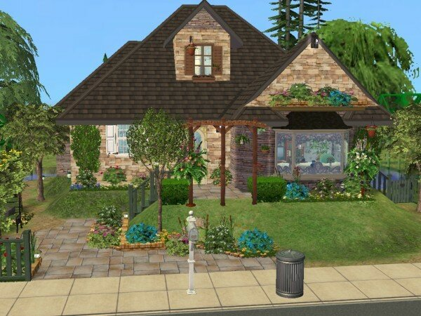 Mini cottage maisons deco sims2 for Decoration maison sims 4