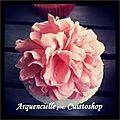 Cupcake fleurs pivoine détail