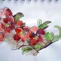 Fleurs de pommier du japon